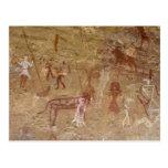 Pinturas prehistóricas de la roca, Akakus, Sáhara Postales