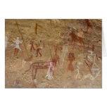 Pinturas prehistóricas de la roca, Akakus, Sáhara Tarjeta De Felicitación