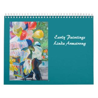 Pinturas tempranas de Linda Armstrong Calendario De Pared