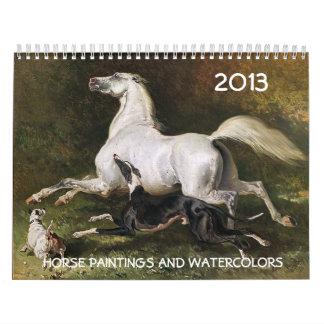 Pinturas y dibujos de la COLECCIÓN de la BELLA ART Calendario