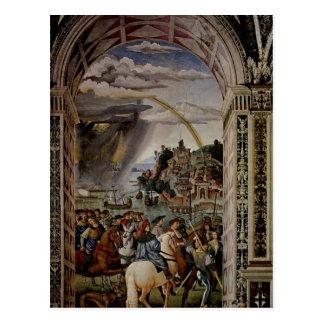 Pinturicchio Freskenzyklus zu Leben und Taten des  Postcard