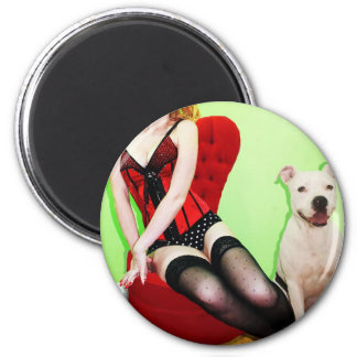 Pinup and Pete Fridge Magnet