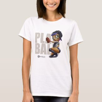 Pinup Baseball Playball T-Shirt