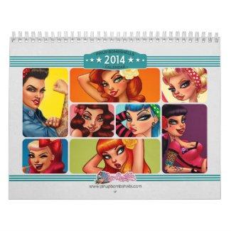 Pinup Bombshells 2014 Calendar