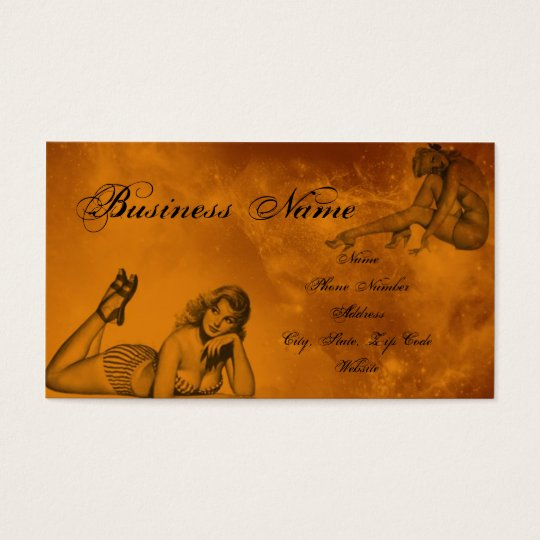pinup business card