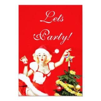 Pinup Christmas Invitation