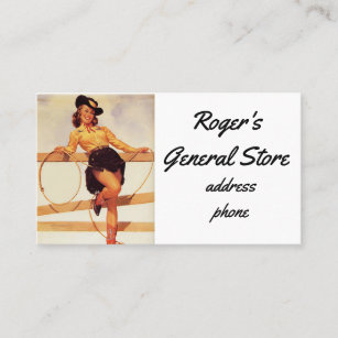 Pinup business cards templates zazzle pinup cowgirl business card colourmoves