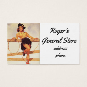 Pinup business cards templates zazzle pinup cowgirl business card colourmoves Choice Image