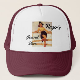 Pinup Cowgirl Trucker Hat