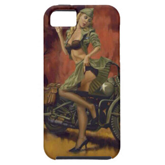PINUP GIRL AND MOTORCYCLE. iPhone 5 COVERS