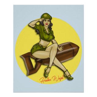 Pinup Girl Bombshell, Latina Poster at Zazzle