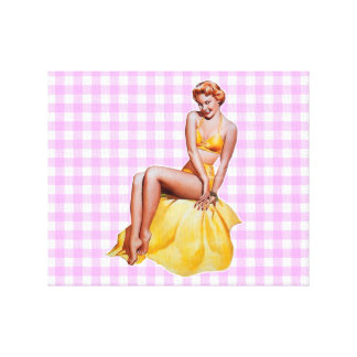Pinup Girl Gallery Wrap Canvas