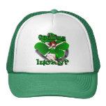 Pinup Girl Cap Retro Irish Pinup Lucky Caps Trucker Hat