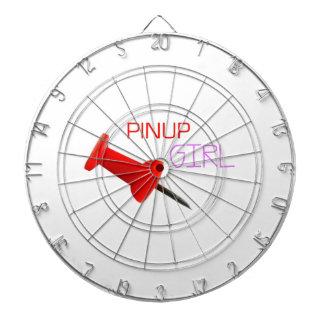Pinup Girl Dartboard With Darts