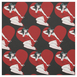 Pinup Girl Fabric Valentine's Pin Up Girl Fabrics