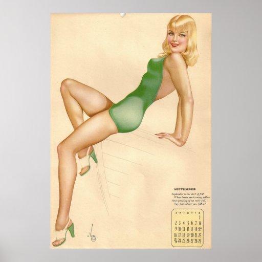 Pinup Girl Miss September Poster