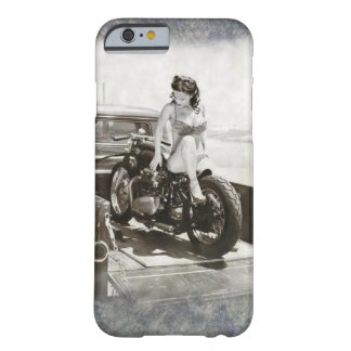 PINUP GIRL ON MOTORCYCLE. BARELY THERE iPhone 6 CASE