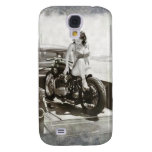 PINUP GIRL ON MOTORCYCLE. GALAXY S4 CASE