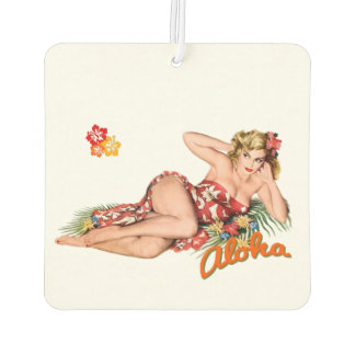 Pinup Girl Pretty, Sexy Island Blonde. Air Freshener