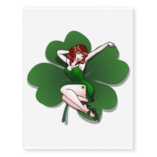 Pinup Girl Temporary Tattoo Lucky Pin-up Tattoo