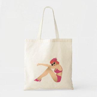 PInup girl wearing pink swimwear Tote Bag