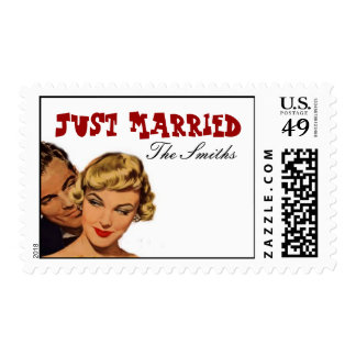 Pinup Just Married Stamps