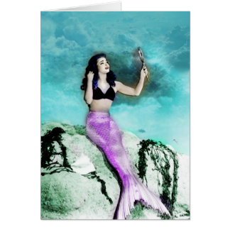 Pinup Mermaid Greeting Card