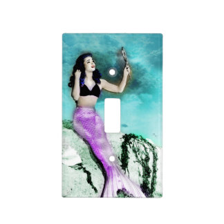 Pinup Mermaid Light Switch Cover
