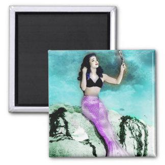 Pinup Mermaid Magnet