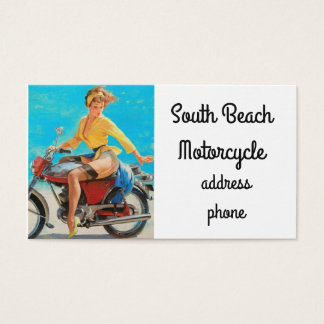 Pinup Motorcycle Business Card