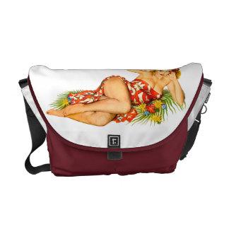 Pinup Pin Up Girl Messenger Bag