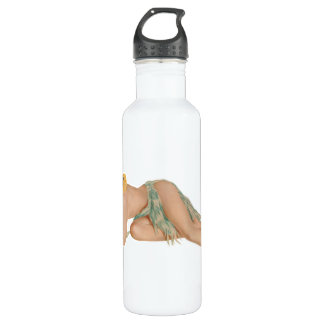 Pinup Pin Up Girl 24oz Water Bottle