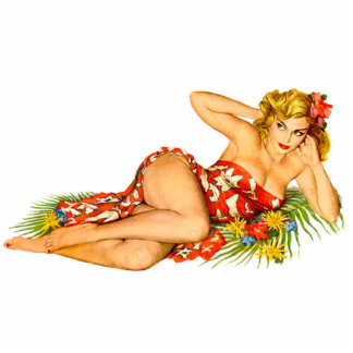 Pinup Pin Up Girl Standing Photo Sculpture