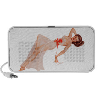 Pinup Pin Up Girl Notebook Speakers