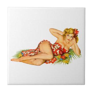 Pinup Pin Up Girl Ceramic Tiles