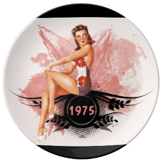 Pinup pink dinner plate