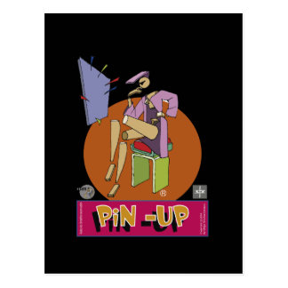 Pinup postcard Sketcher
