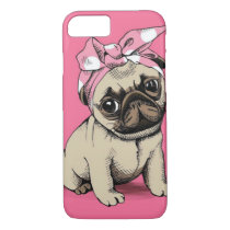 Pinup Pug Dog iPhone 7 case