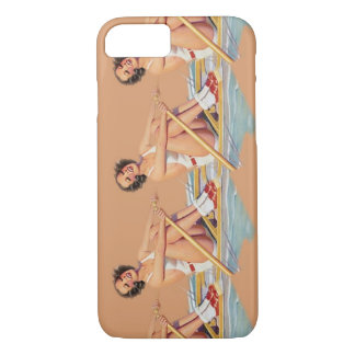 Pinup Rowing Womeon on iPhone 7 case