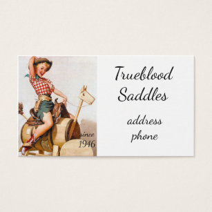 Pinup business cards templates zazzle pinup saddle business card colourmoves Choice Image