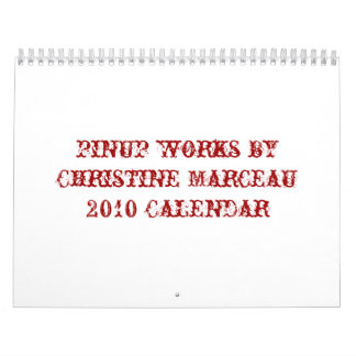 pinup works by Christine Marceau2010 Calendar