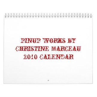 pinup works by Christine Marceau2010 Calendar