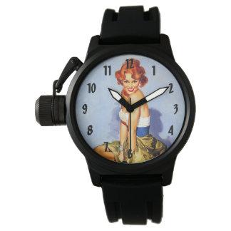 Pinups retros del vintage relojes de mano