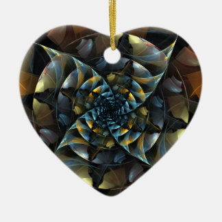 Pinwheel Abstract Art Heart Ornament