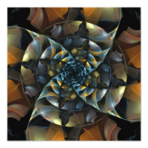 Pinwheel Abstract Art Invitation
