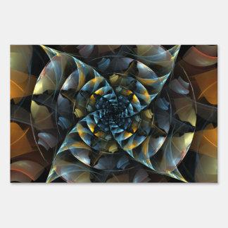 Pinwheel Abstract Art Lawn Sign