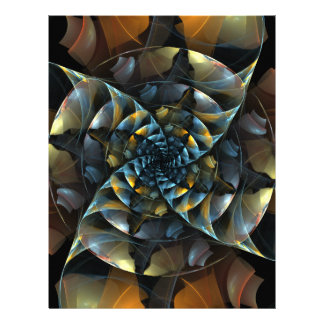 Pinwheel Abstract Art Letterhead