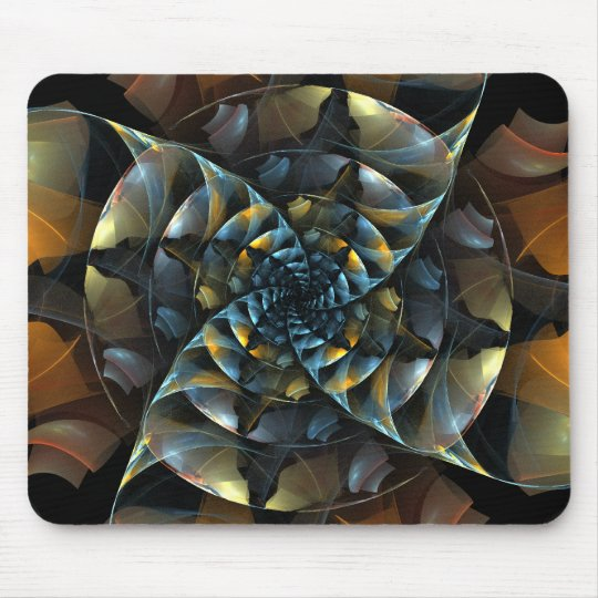 Pinwheel Abstract Art Mousepad