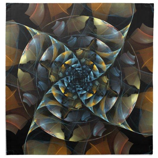 Pinwheel Abstract Art Napkin