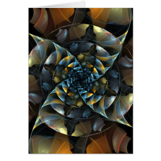 Pinwheel Abstract Art Note Card